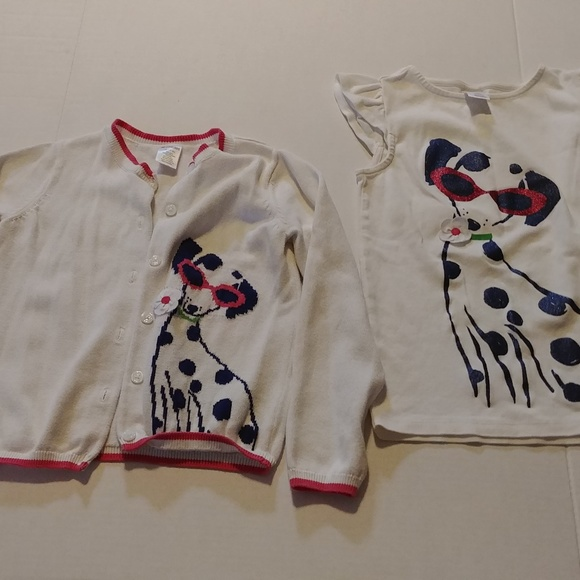 Gymboree Other - Gymboree 2 piece white Dalmatian sweater set